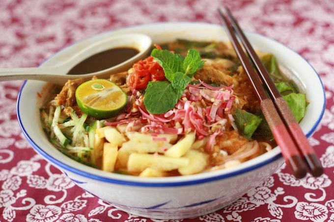Mỳ Assam Laksa nức tiếng ở Penang., du lịch nhật bản, du lịch việt nam, du lịch thái lan, du lịch malaysia, du lịch trung quốc