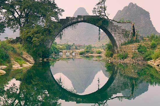 700-865335 © Jochen Schlenker Bridge, Yulong River, Yangshuo, Guangxi Province, China
