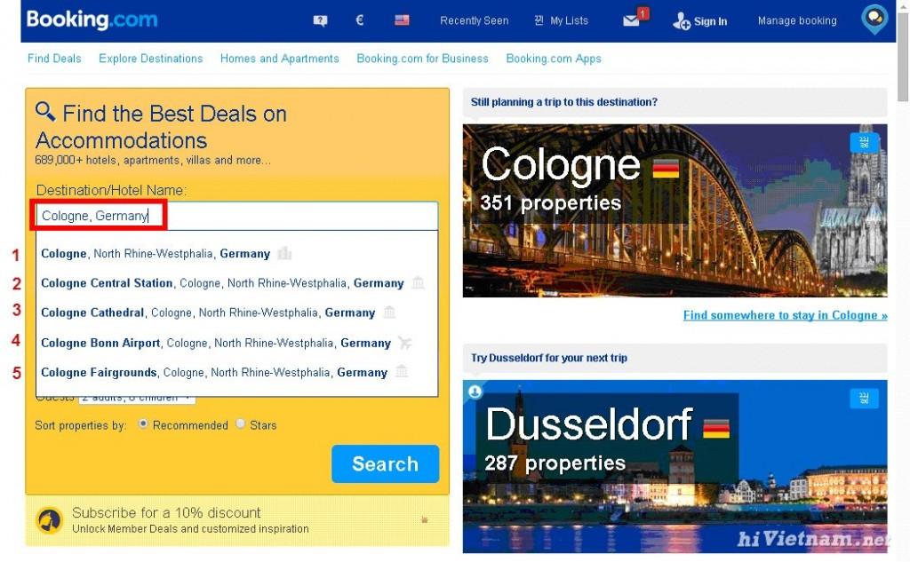 Cách đặt phòng khách sạn trên Booking.com