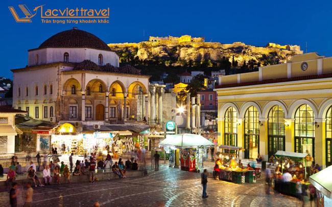 Thành phố Athens về đêm