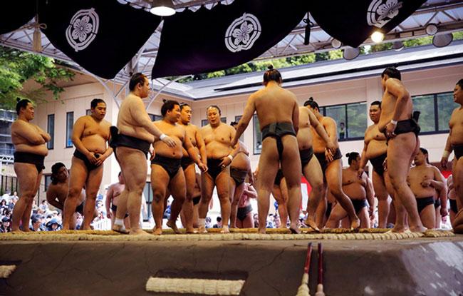 lễ hội Sumo mùa thu Nhật Bản