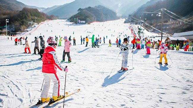 Du lịch Hàn Quốc trượt tuyết mùa đông