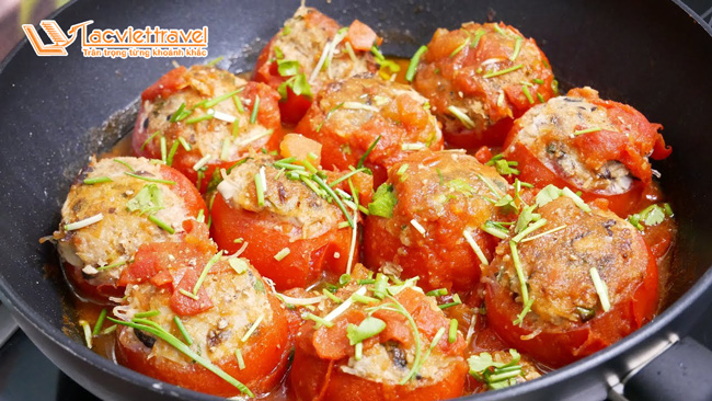 Bánh cà chua rán Santorini - sức hút không thể chối từ