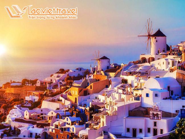 Làng cổ Oia (Ia) - du lịch Santorini