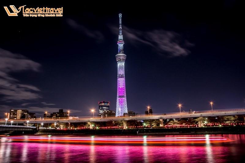 Tháp Tokyo Skytree - top 5 địa điểm du lịch ở Nhật Bản