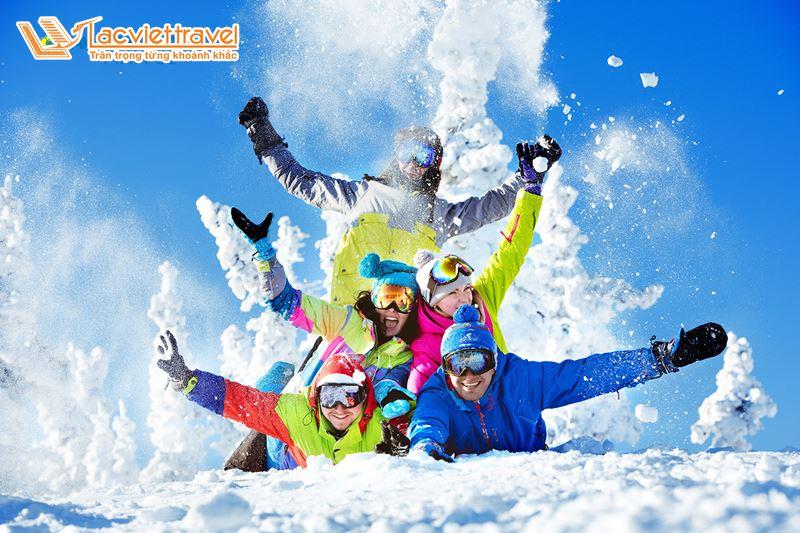 Du lịch Hàn Quốc Tết Nguyên Đán - Trượt tuyết Elysian