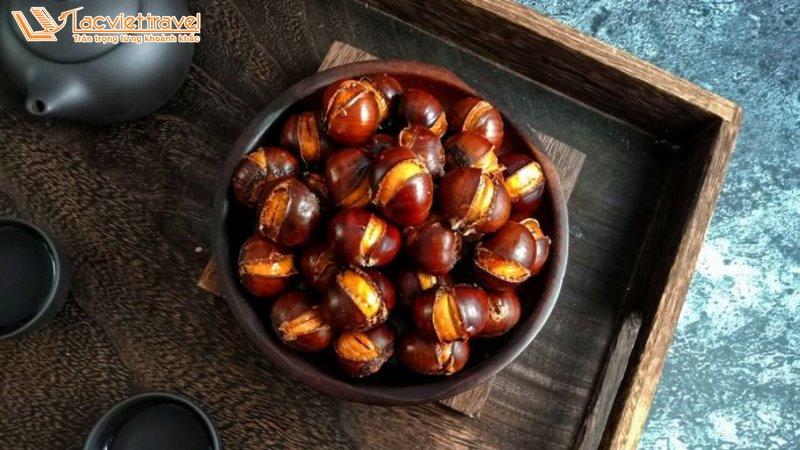Ẩm thực Hàn Quốc Món Ăn Hàn Quốc Mùa Đông Hạt Dẻ nướng hàn quốc khoai lang nướng Du lịch hàn quốc